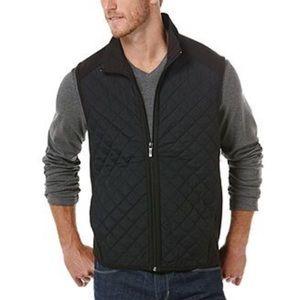 Perry Ellis black quilted vest